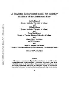 A Bayesian hierarchical model for monthly maxima of ... - arXiv
