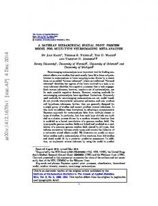 A Bayesian hierarchical spatial point process model for multi ... - arXiv