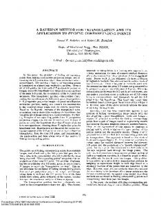 a bayesian method for triangulation and its ... - Robert Haralick