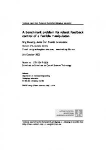 A benchmark problem for robust feedback control of a flexible