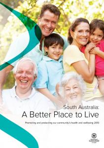 A Better Place to Live - SA Health