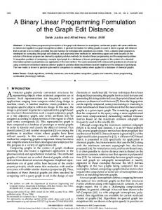 A Binary Linear Programming Formulation of the Graph Edit Distance