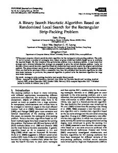 A Binary Search Heuristic Algorithm Based on ... - Semantic Scholar