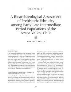 A Bioarchaeological Assessment of Prehistoric Ethnicity among Early ...