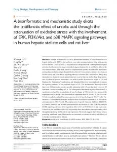 a bioinformatic and mechanistic study elicits the