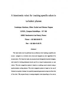 A biomimetic robot for tracking specific odors in ... - Semantic Scholar