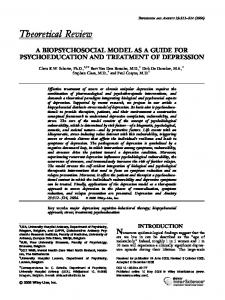 A biopsychosocial model as a guide for ... - Wiley Online Library