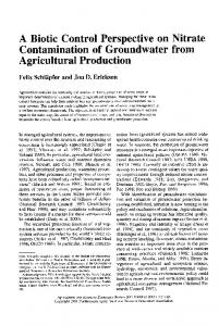 A Biotic Control Perspective on Nitrate ... - AgEcon Search