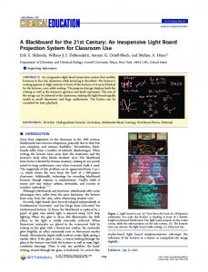 A Blackboard for the 21st Century: An Inexpensive ... - ACS Publications