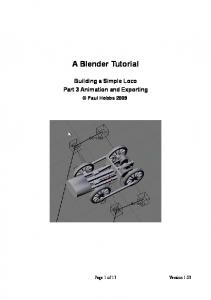 A Blender Tutorial - 44090 Digital Models