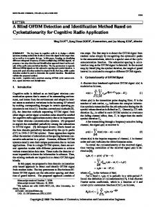 A Blind OFDM Detection and Identification Method Based on ...