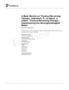 A Book Review on Tinnitus Retraining Therapy