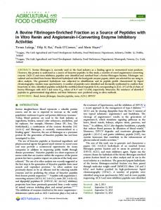 A Bovine Fibrinogen-Enriched Fraction as a ... - ACS Publications