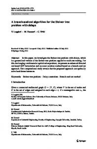 A branch-and-cut algorithm for the Steiner tree problem ... - Springer Link