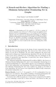 A Branch-and-Reduce Algorithm for Finding a Minimum Independent ...