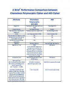 A Brief Performance Comparison between Chameleon ... - Magdy Saeb