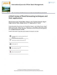 A Brief review of flood forecasting techniques and their applications