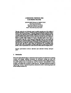 A BROKERING PROTOCOL FOR ELECTRONIC ... - Semantic Scholar