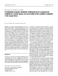 A brominated secondary metabolite synthesized by the ... - Springer Link