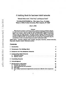 A building block for hardware belief networks