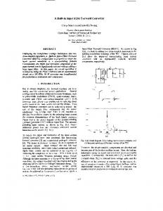 A built-in-input filter forward converter - Power Electronics Specialists ...