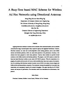 A Busy-Tone based MAC Scheme for Wireless Ad Hoc ... - CiteSeerX
