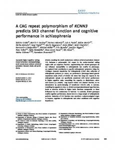 A CAG repeat polymorphism of KCNN3 predicts ... - Wiley Online Library