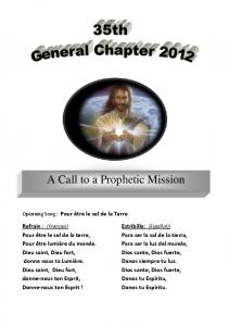 A Call to a Prophetic Mission