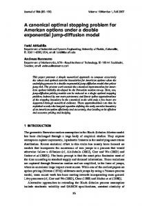 A canonical optimal stopping problem for American options under a ...