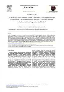 A Capability-Driven Dynamic Federal Collaborative ... - ScienceDirect