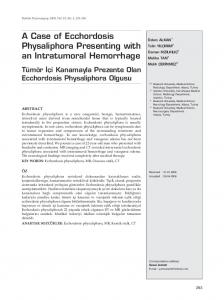 A Case of Ecchordosis Physaliphora Presenting with an Intratumoral ...
