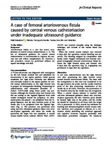 A case of femoral arteriovenous fistula caused by ... - Springer Link