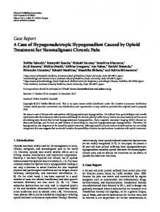 A Case of Hypogonadotropic Hypogonadism Caused by Opioid ...