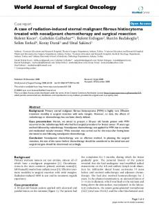 A case of radiation-induced sternal malignant fibrous histiocytoma ...