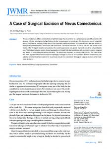 A Case of Surgical Excision of Nevus Comedonicus