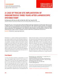 a case of trocar site implantation of ... - KoreaMed Synapse
