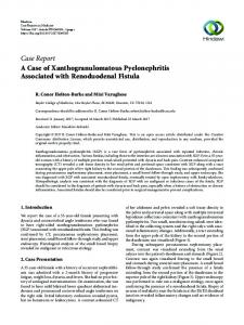 A Case of Xanthogranulomatous Pyelonephritis Associated with ...