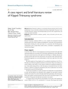 A case report and brief literature review of Klippel
