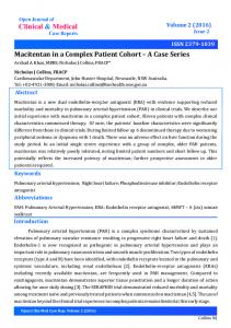 A Case Series - Open Journal of Clinical and Medical Case Reports