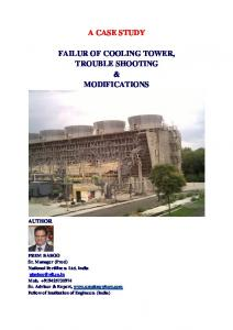 a case study failur of cooling tower, trouble shooting ...
