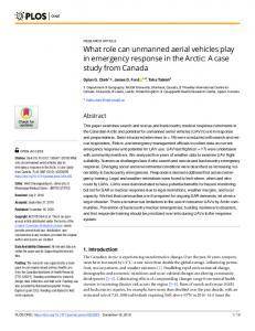 A case study from Canada - PLOS