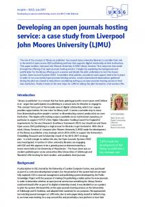 a case study from Liverpool John Moores University ... - UKSG Insights