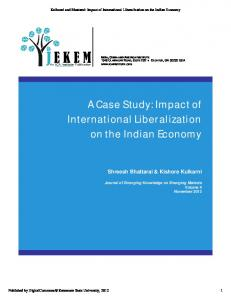 A Case Study: Impact of International Liberalization on the Indian ...