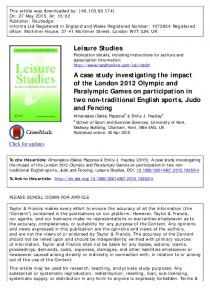 A case study investigating the impact of the London