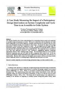 A Case Study Measuring the Impact of a Participatory Design