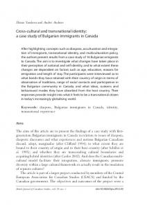 a case study of Bulgarian immigrants in Canada - Liverpool University ...