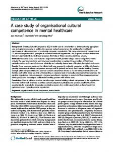 A case study of organisational cultural competence in ... - BioMedSearch