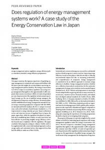 A case study of the Energy Conservation Law in Japan