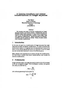 A Catalan transform and related transformations on integer sequences