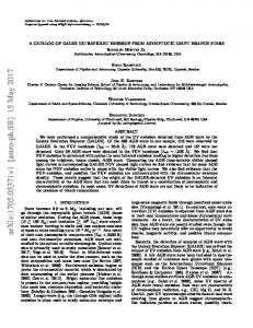 A Catalog of GALEX Ultraviolet Emission from Asymptotic Giant ...